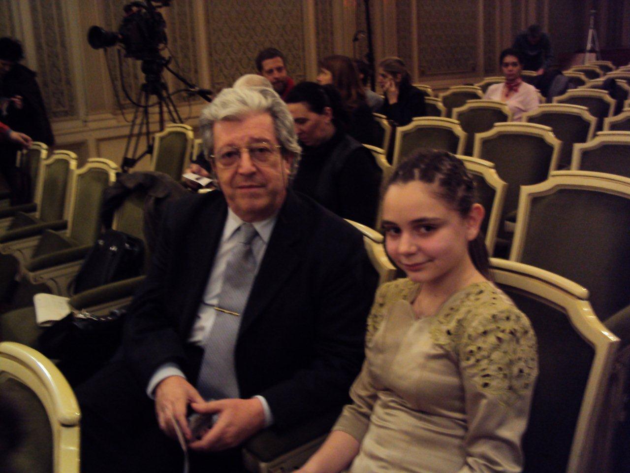 cu profesorul meu - Prof.Univ.Dr. Şerban Dimitrie Soreanu, Ateneul Român 2010