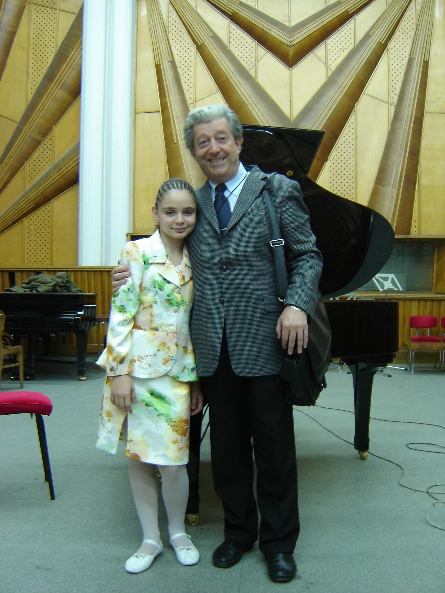 cu profesorul meu - Prof.Univ.Dr. Şerban Dimitrie Soreanu, Bucureşti 2008