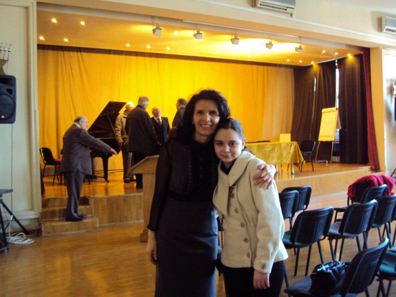 with my teacher - Prof.Dr. Adriana Bocăneanu, JCC 2010