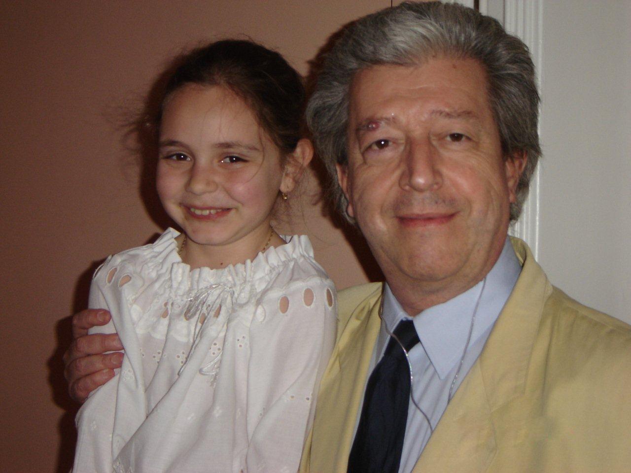 cu profesorul meu - Prof.Univ.Dr. Şerban Dimitrie Soreanu, Palermo 2005