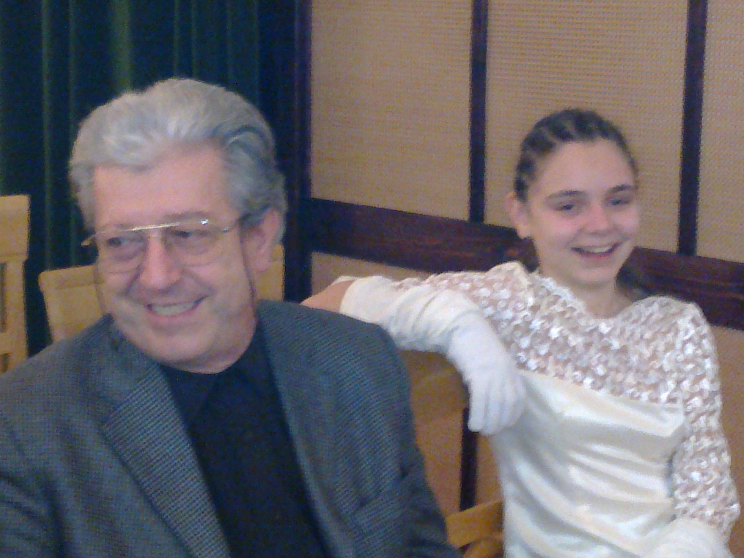 cu profesorul meu - Prof.Univ.Dr. Şerban Dimitrie Soreanu, Tulcea 2009