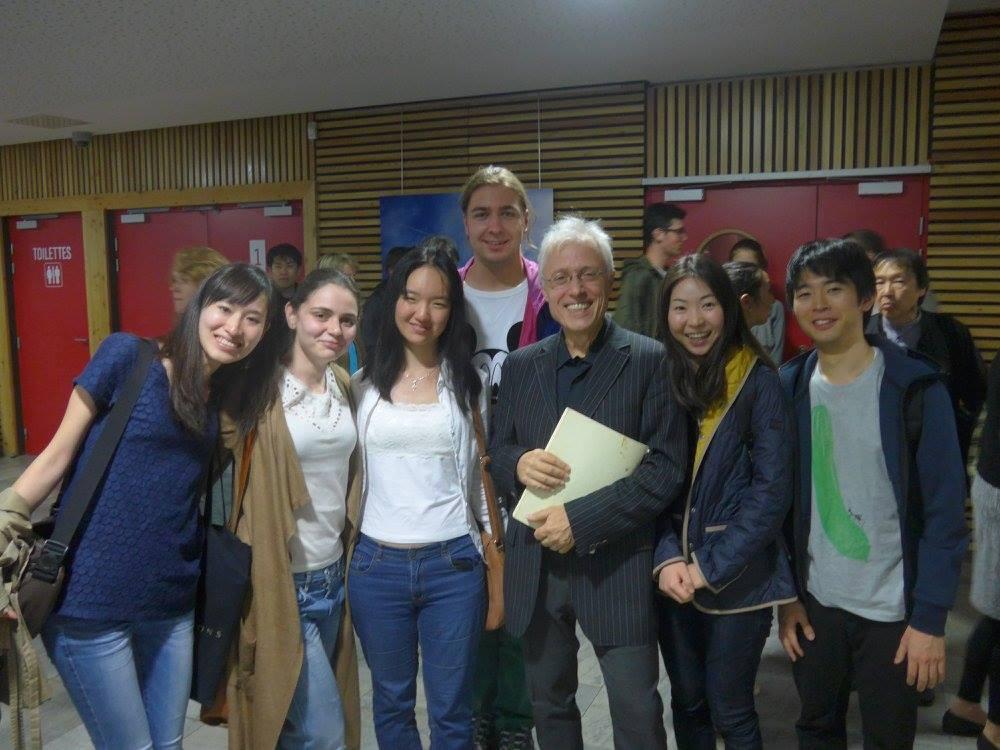 cu profesorul meu Prof. Pascal Devoyon şi clasa - Tignes, 27 august 2016