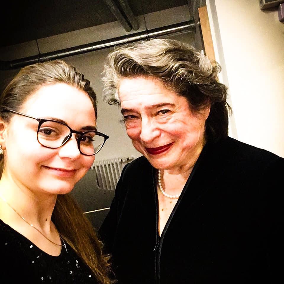 With Elisabeth Leonskaja - Berlin, 15 January 2019